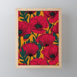 Red poppy garden    Framed Mini Art Print