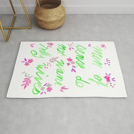 Men of sense do not want silly wives - Green & Pink Palette Rug