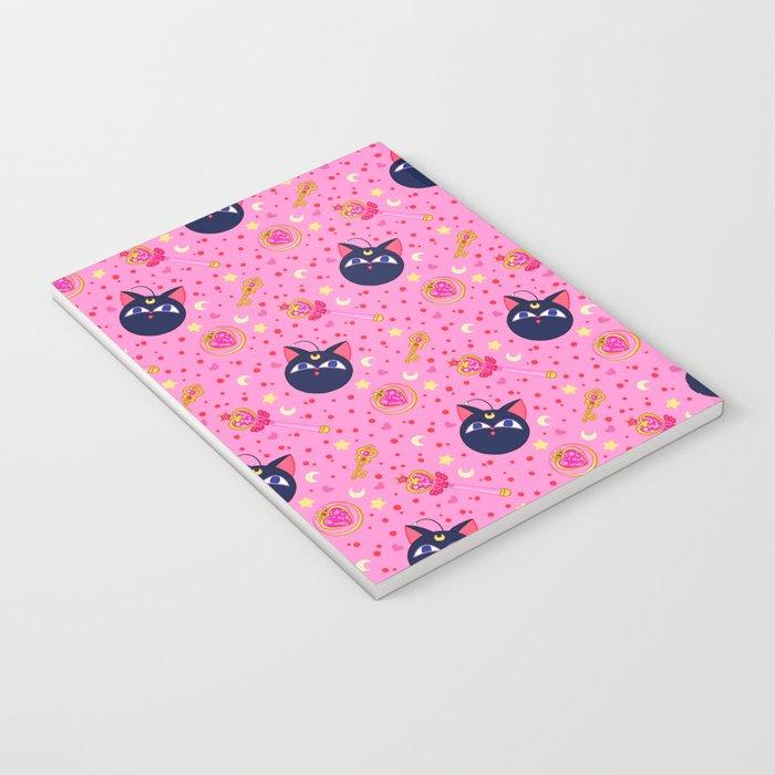 Chibi Moon Pattern / Sailor Moon Notebook