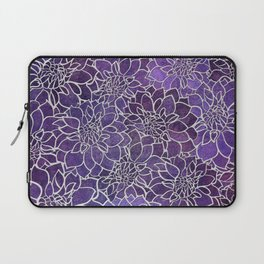 Dahlia Flower Pattern 3 Laptop Sleeve