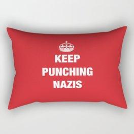 Keep Punching Nazis Rectangular Pillow