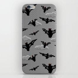 pixel bats iPhone Skin