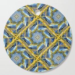 golden day kaleidoscope pattern Cutting Board