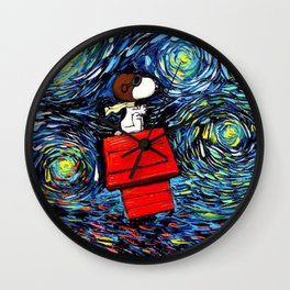 flying home snoopy Wall Clock
