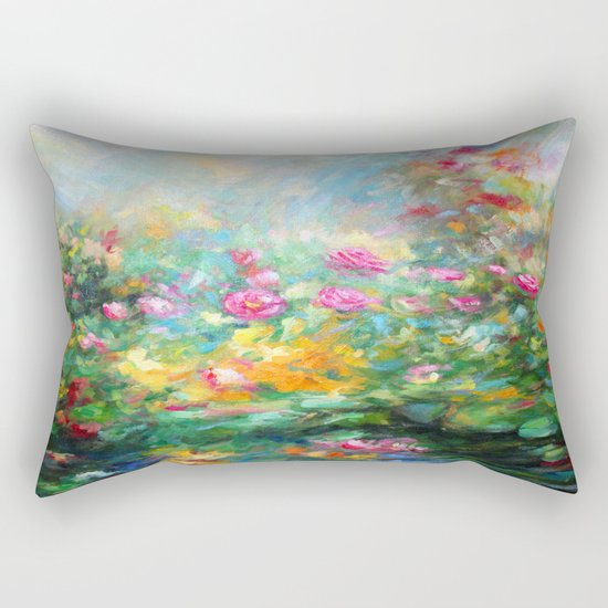 Roses paint  Rectangular Pillow
