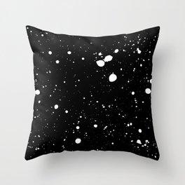 Monochrome Splats Throw Pillow