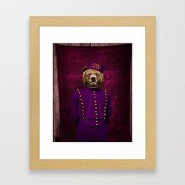 Lobby Bear Framed Art Print