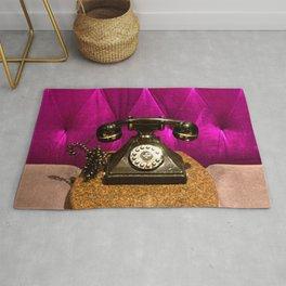 Vintage, Elegant French Telephone Rug