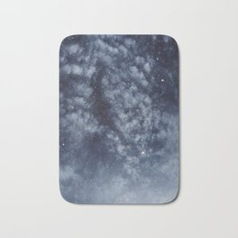 Blue veiled moon II Bath Mat