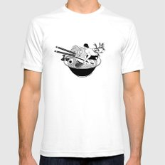 Noodle Wave SMALL White Mens Fitted Tee