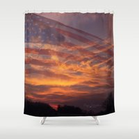 america Shower Curtains featuring America by Countryfied Memories Photography