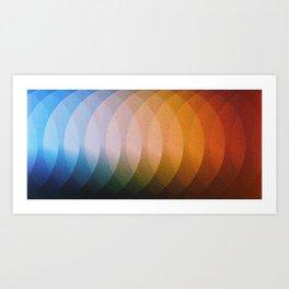 Circle Blend Colors Art Print