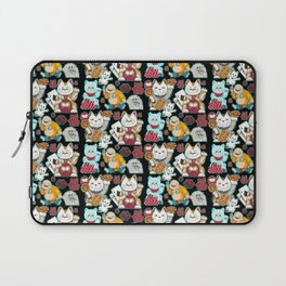 Super Lucky Pattern in Black Laptop Sleeve