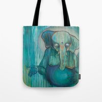ganesh Tote Bags featuring Ganesh  by Magick Monica