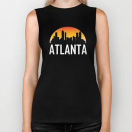 Sunset Skyline of Atlanta GA Biker Tank