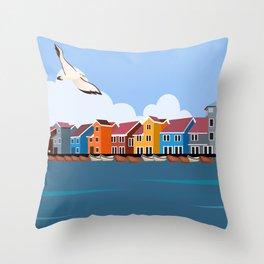 Burano Island, Italy Throw Pillow