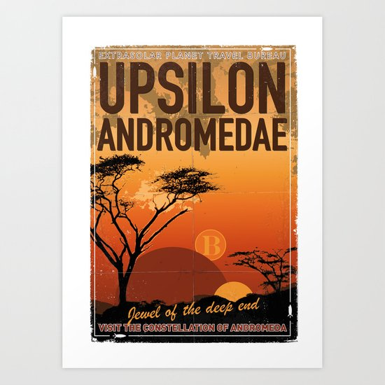 My Exoplanetary Travel Poster: Upsilon Andromedae B Art Print