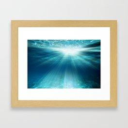 Light Rays Underwater Framed Art Print