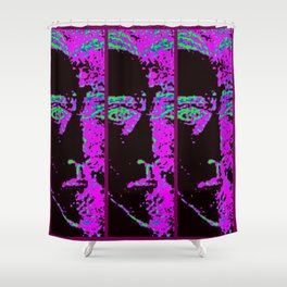 Purple Slices of Me Shower Curtain