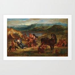 "Eugène Delacroix ""Ovide chez les Scythes (Ovid among the Scythians)"" Art Print"