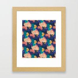Chrysanthemums and Marigolds Framed Art Print