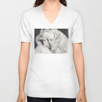 hands V-neck T-shirts featuring hands... by als3