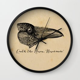 Nevermore - Edgar Allan Poe - Quoth the Raven Wall Clock