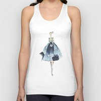 fashion illustration Tank Tops featuring Fashion Illustration by Anukriti Goswami