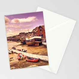 Padstow Harbour Fishing boats  Stationery Cards