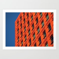 Orange and Blue Art Print