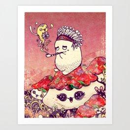 Borish and The Smoking Pipe Art Print