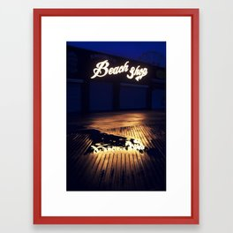 Beach Shop Coney Island Framed Art Print