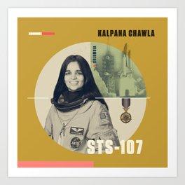 Beyond Curie: Kalpana Chawla Art Print