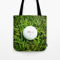 golf Tote Bags featuring GOLF by Cooper Designs