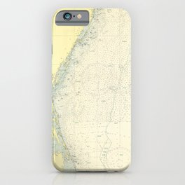 Vintage Cape May to Cape Hatteras Shipwrecks Map iPhone Case