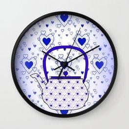 Blue Teapot Wall Clock