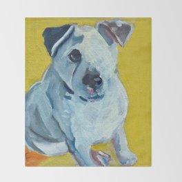 Beautiful Dolly the White Dog Throw Blanket