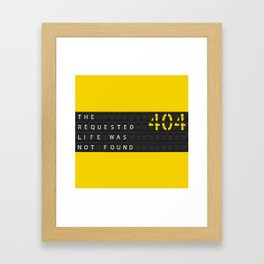 Error404 Framed Art Print