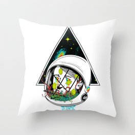 Space Gummies Throw Pillow