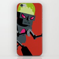 robot iPhone & iPod Skins featuring Robot by Marco Recuero