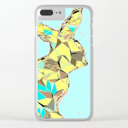 Spring bunny Clear iPhone Case