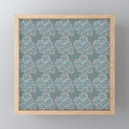 Sun Flower Design Framed Mini Art Print