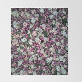 Flower carpet Throw Blanket