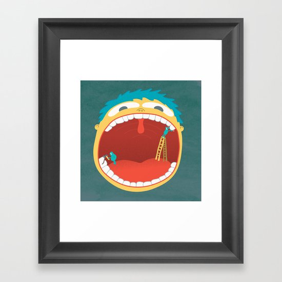 Oh, They're Teeth People! Framed Art Print