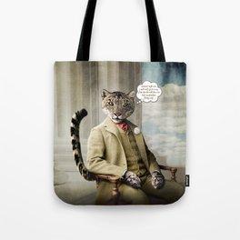 Sir Sebastian Snow Leopard Tote Bag
