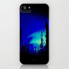 Aurora Borealis Forest Vibrant iPhone Case