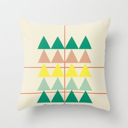 disguise forest || early summer Throw Pillow