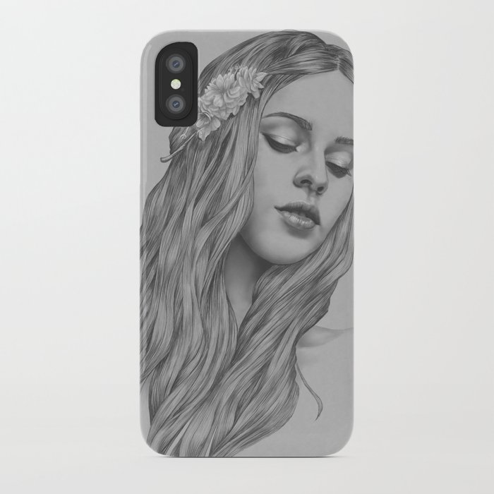 Patience - a digital drawing iPhone Case