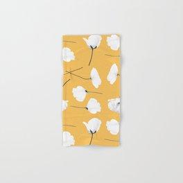 Poppies on mustard Hand & Bath Towel