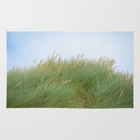 dune Area & Throw Rugs featuring Dune Grass by A Wandering Soul